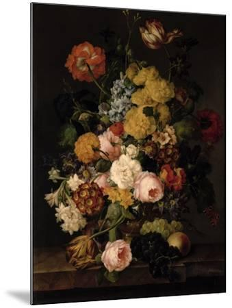 Still Life - Roses, Tulips and Other Flowers- Petter-Mounted Giclee Print
