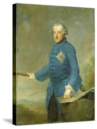 Frederick Ii the Great of Prussia, C.1770-Johann Georg Ziesenis-Stretched Canvas Print