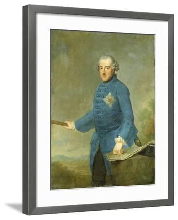 Frederick Ii the Great of Prussia, C.1770-Johann Georg Ziesenis-Framed Giclee Print