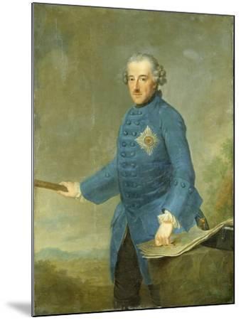 Frederick Ii the Great of Prussia, C.1770-Johann Georg Ziesenis-Mounted Giclee Print