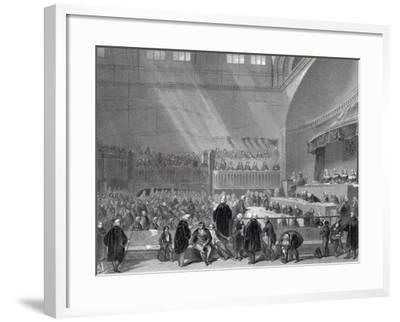 Daniel O'Connell Standing Trial in 1844-English School-Framed Giclee Print