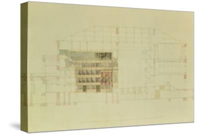 Plan for the Dresden Royal Theatre, C.1838-Gottfried Semper-Stretched Canvas Print