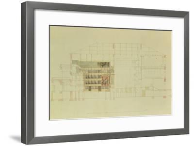 Plan for the Dresden Royal Theatre, C.1838-Gottfried Semper-Framed Giclee Print