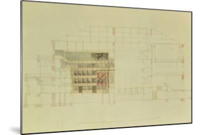 Plan for the Dresden Royal Theatre, C.1838-Gottfried Semper-Mounted Giclee Print