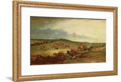 The Quorn in Full Cry Near Tiptoe Hill-John E^ Ferneley-Framed Giclee Print