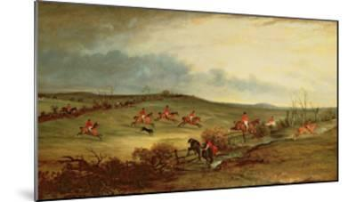 The Quorn in Full Cry Near Tiptoe Hill-John E^ Ferneley-Mounted Giclee Print