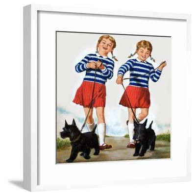T Is for Twin, Illustration from 'Treasure'-Clive Uptton-Framed Giclee Print