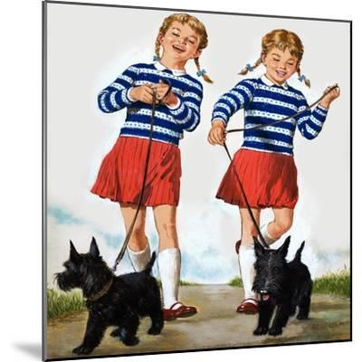 T Is for Twin, Illustration from 'Treasure'-Clive Uptton-Mounted Giclee Print
