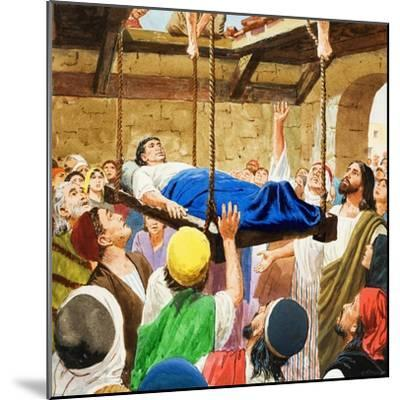 The Miracles of Jesus: Healing the Lame Man-Clive Uptton-Mounted Giclee Print
