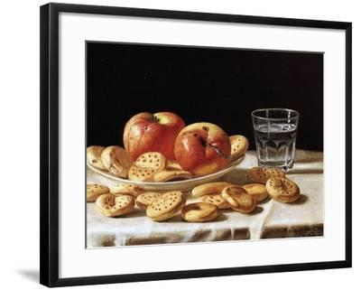 Still Life with Apples and Biscuits, 1862-John F^ Francis-Framed Giclee Print