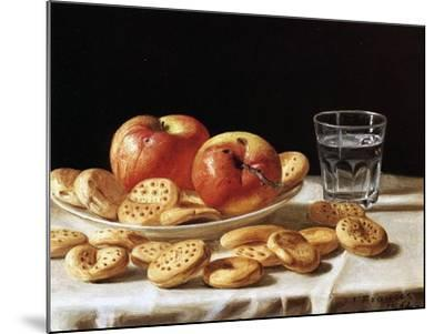 Still Life with Apples and Biscuits, 1862-John F^ Francis-Mounted Giclee Print