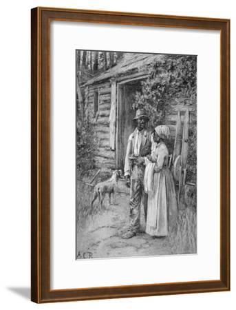 Field Workers Oustside their Cabin, 1886-American School-Framed Giclee Print