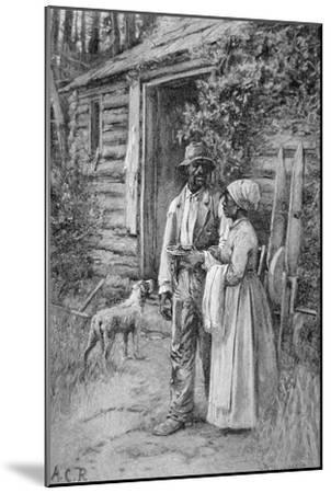 Field Workers Oustside their Cabin, 1886-American School-Mounted Giclee Print