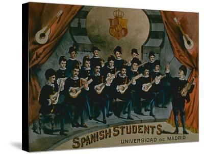 Spanish Students, University of Madrid'-American School-Stretched Canvas Print