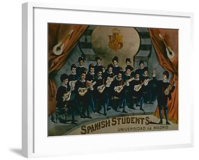 Spanish Students, University of Madrid'-American School-Framed Giclee Print