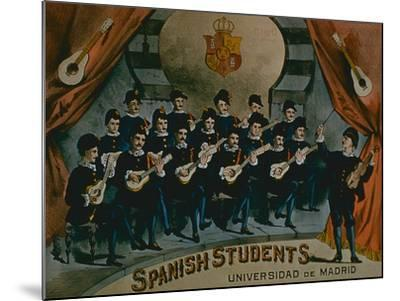 Spanish Students, University of Madrid'-American School-Mounted Giclee Print