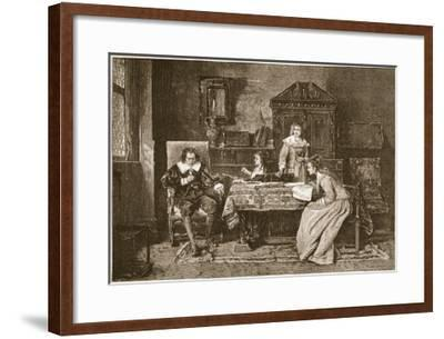 Milton Dictating 'Paradise Lost'-Mihaly Munkacsy-Framed Giclee Print