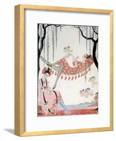 What Do Young Women Dream Of? 1918-Georges Barbier-Framed Giclee Print