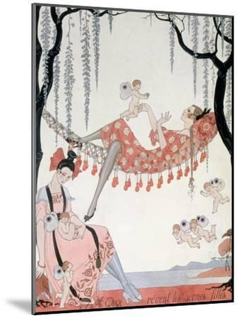 What Do Young Women Dream Of? 1918-Georges Barbier-Mounted Giclee Print