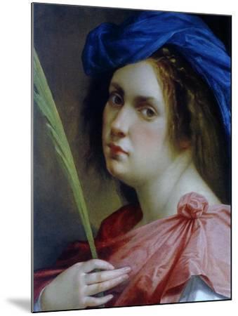 Self Portait as a Martyr, C.1615-Artemisia Gentileschi-Mounted Giclee Print