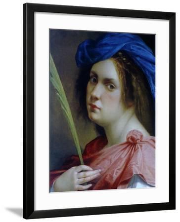 Self Portait as a Martyr, C.1615-Artemisia Gentileschi-Framed Giclee Print