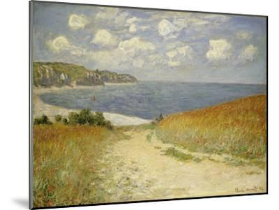 Path in the Wheat at Pourville, 1882-Claude Monet-Mounted Giclee Print
