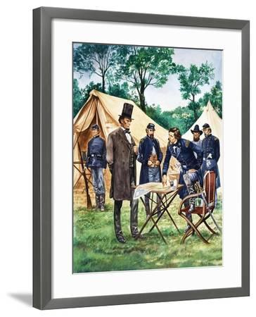 When They Were Young: Abraham Lincoln-Peter Jackson-Framed Giclee Print