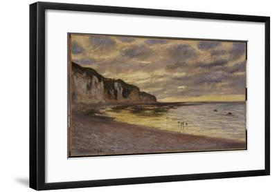 Pointe De Lailly, Maree Basse, 1882-Claude Monet-Framed Giclee Print