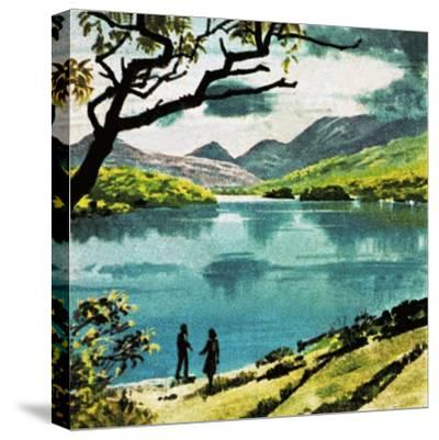 Lakes of Killarney, Country Kerry-English School-Stretched Canvas Print