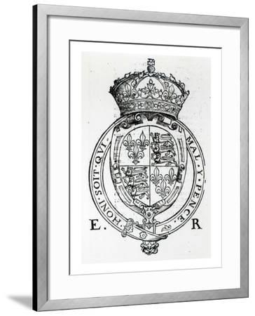 Coat of Arms of Queen Elizabeth I-English School-Framed Giclee Print