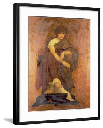 Mnemosyne, the Mother of the Muses-Frederick Leighton-Framed Giclee Print