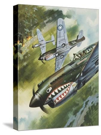 Famous Aircraft and their Pilots-Wilf Hardy-Stretched Canvas Print