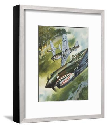 Famous Aircraft and their Pilots-Wilf Hardy-Framed Premium Giclee Print