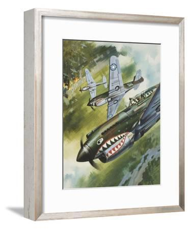Famous Aircraft and their Pilots-Wilf Hardy-Framed Giclee Print