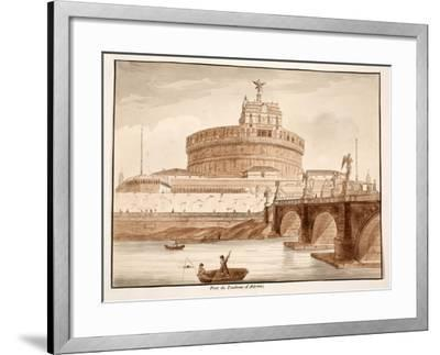 The Bridge of Hadrian's Tomb, 1833-Agostino Tofanelli-Framed Giclee Print