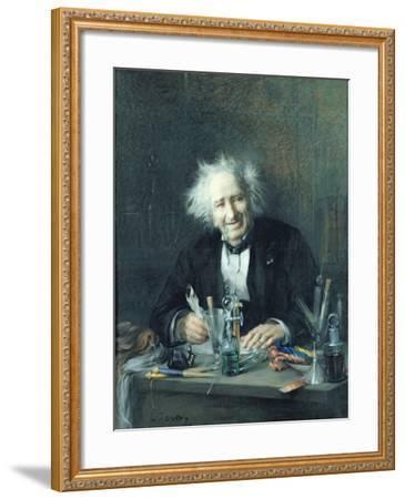 Portrait of Michel-Eugene Chevreul-Leon Auguste Tourny-Framed Giclee Print