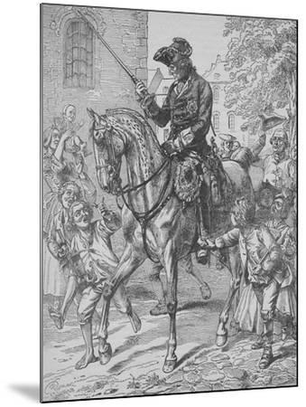 Frederick the Great of Prussia-English School-Mounted Giclee Print