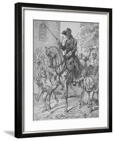 Frederick the Great of Prussia-English School-Framed Giclee Print