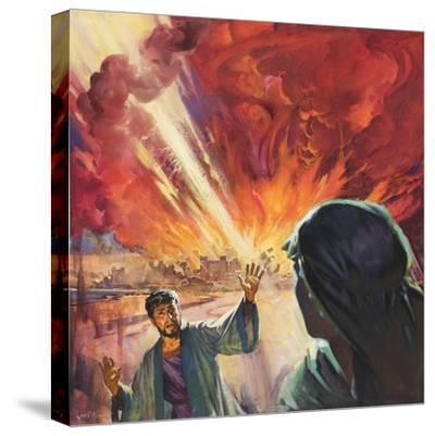 Destruction of Sodom and Gomorah-McConnell-Stretched Canvas Print