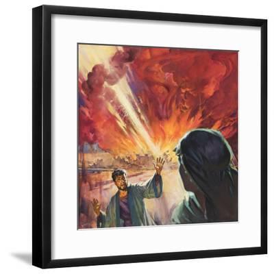 Destruction of Sodom and Gomorah-McConnell-Framed Giclee Print