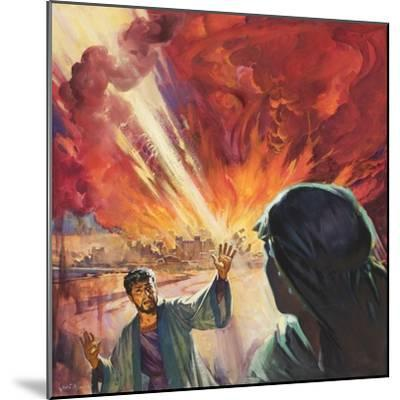 Destruction of Sodom and Gomorah-McConnell-Mounted Giclee Print