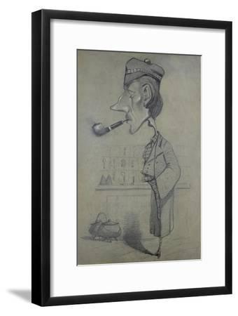 The Scotsman with a Pipe, 1857-Claude Monet-Framed Giclee Print