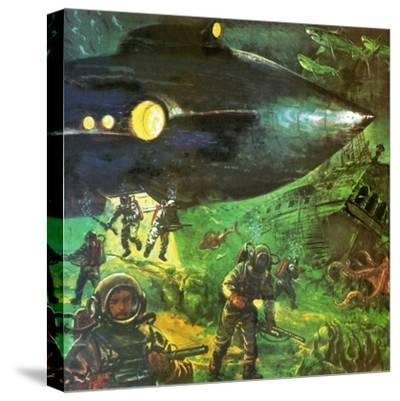 20,000 Leagues under the Sea-English School-Stretched Canvas Print
