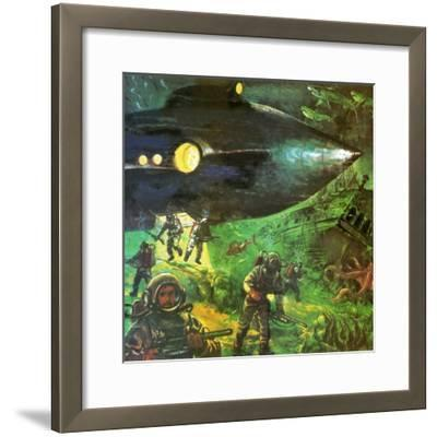 20,000 Leagues under the Sea-English School-Framed Giclee Print