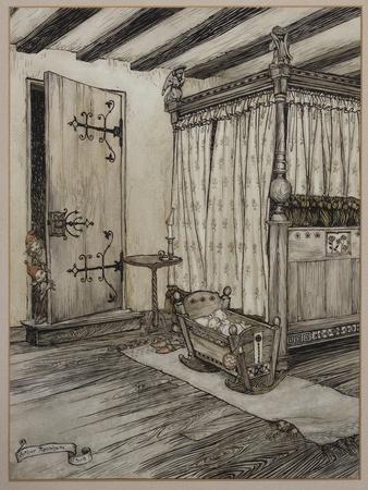 '....Almost Fairy Time', 1908-Arthur Rackham-Framed Giclee Print