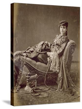 A Turkish Lady Seated, C.1880-Jean-Pascal Sebah-Stretched Canvas Print