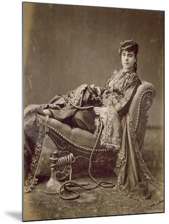 A Turkish Lady Seated, C.1880-Jean-Pascal Sebah-Mounted Giclee Print