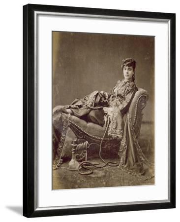 A Turkish Lady Seated, C.1880-Jean-Pascal Sebah-Framed Giclee Print