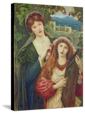 The Childhood of Saint Cecily-Marie Spartali Stillman-Stretched Canvas Print