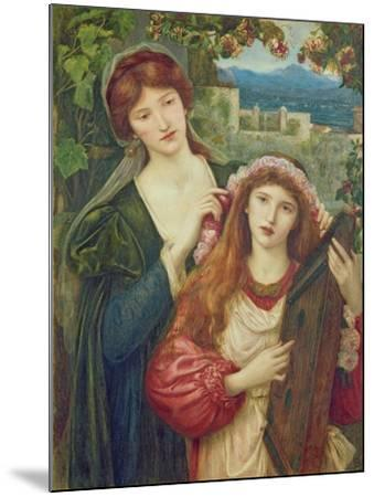 The Childhood of Saint Cecily-Marie Spartali Stillman-Mounted Giclee Print